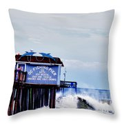 The Leaning Pier Throw Pillow