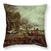 The Leaping Horse Throw Pillow