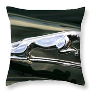 The Leaping Jaguar Throw Pillow