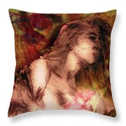 The Left Handed Portrait Throw Pillow