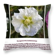 The Legend Of The Confederate Rose Throw Pillow