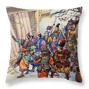 The Legend Of The Forty-seven Ronin Throw Pillow