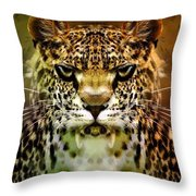 The Leopard Of The Temple  Throw Pillow