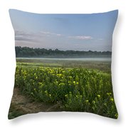 The Less Traveled Path Throw Pillow