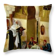 The Lesson Throw Pillow by Rudolphe Ernst