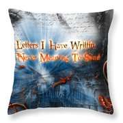 The Letters Throw Pillow