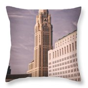 The Leveque Tower Of Columbus Ohio Throw Pillow
