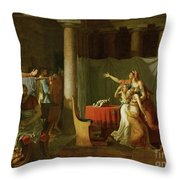 The Lictors Bring To Brutus The Bodies Of His Sons Throw Pillow