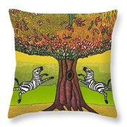 The Life-giving Tree. Throw Pillow by Jarle Rosseland
