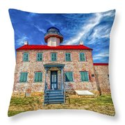 The Light At East Point Throw Pillow