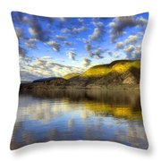 The Light At Skaha Lake Throw Pillow