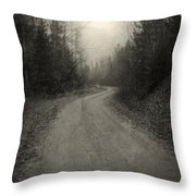 The Light At The End Of The Road Throw Pillow