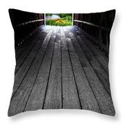The Light At The End Of The Winter Throw Pillow