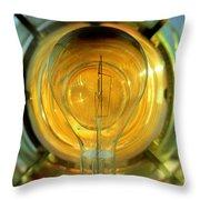 The Light Bulb Inside The Fresnel Of A Lighthouse Throw Pillow