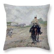 The Light Cavalryman Throw Pillow