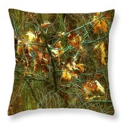 The Light In The Forest Throw Pillow