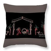The Light Of Christmas Throw Pillow