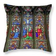 The Light Of Faith Throw Pillow