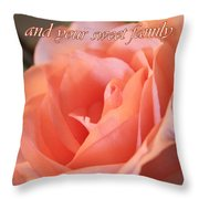 The Light Of God Throw Pillow