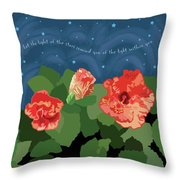 The Light Of The Stars Throw Pillow