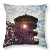 The Light Through The Pagoda Throw Pillow