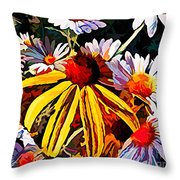 The Light Within The Flowers Throw Pillow
