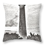 The Lighthouse At Cape May Throw Pillow