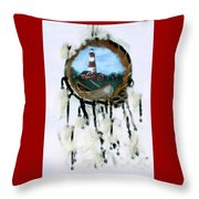 The Assateague Lighthouse Throw Pillow