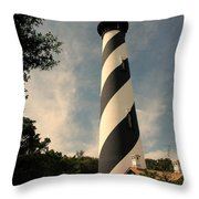 The Lighthouse In St.augustin Fl Throw Pillow