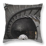 The Lighthouse Stairs Throw Pillow