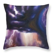 The Lightning Throw Pillow by James Christopher Hill