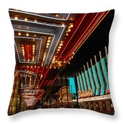 The Lights Are On In Las Vegas Throw Pillow