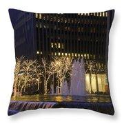 New York City Lights Throw Pillow