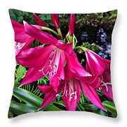 The Lilies Of Summer Throw Pillow