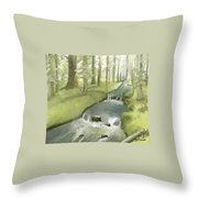 The Lilt Of The Water Throw Pillow