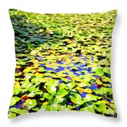 The Lily Pond #2 Throw Pillow