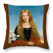 The Lily. Portrait Of Miss Bury Throw Pillow