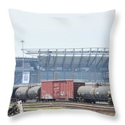 The Linc From The Other Side Of The Tracks Throw Pillow