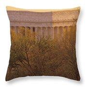 The Lincoln Memorial, Seen Throw Pillow