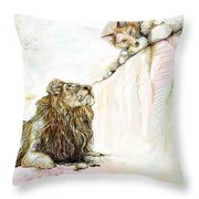 The Lion And The Fox 1 - The First Meeting Throw Pillow