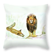 The Lion And The Fox 2 - The True Friendship Throw Pillow