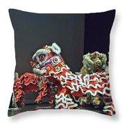 The Lion Dance Camarillo  Throw Pillow