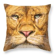 The Lion Roar Of Freedom Throw Pillow