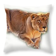 The Lioness - Vignette Throw Pillow