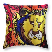 The Lions Mane. Throw Pillow