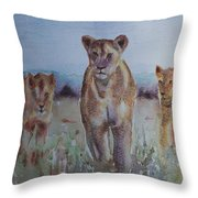 The Lions Of Africa 1 Throw Pillow