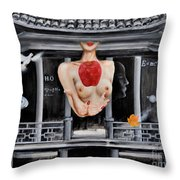 The Lips Of Forgetting Craziness Throw Pillow