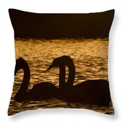 The Liquid Gold Throw Pillow