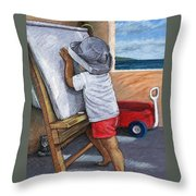 The Little Artist Throw Pillow