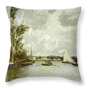 The Little Branch Of The Seine At Argenteuil Throw Pillow
